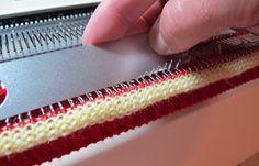 Brother Knitting Machine, Diana Sullivan, How To Attach Knitted Neck Band, How To Attach knitted Sleeve, Machine Knit Neck Band, Machin Knit V Neck