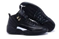"""53558699c1f6e4 Find Quality New Style Air Jordan 12 """"The Master"""" Black Rattan-White-Metallic  Gold and"""