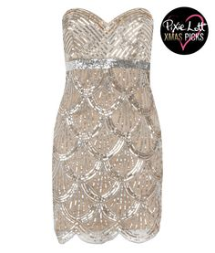 Lipsy V I P Scallop Beaded Dress, great for a G reat Gatsby party!