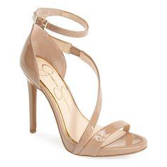 JESSICA SIMPSON rayli patent ankle strap sandal