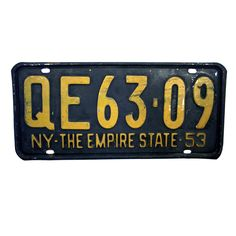 1953 New York State License Plate