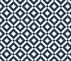 Diamond navy by amy bethune photography on Spoonflower. Sateen or linen for blinds.
