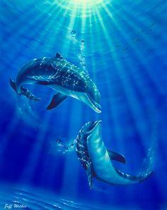 Dolphin Kiss Mural - Jeff Wilkie| Murals Your Way