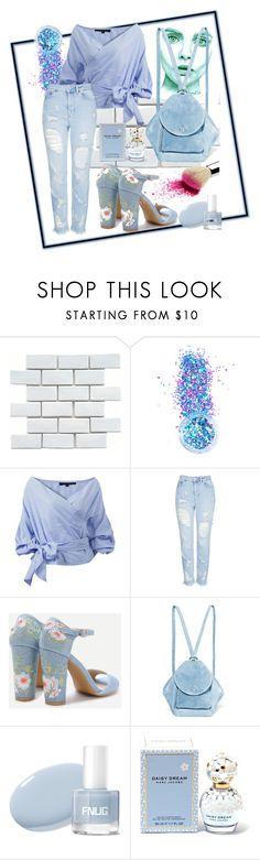 """""""something blue"""" by randoomstylecatcher ❤ liked on Polyvore featuring Merola, In Your Dreams, Topshop, MANU Atelier and Marc Jacobs"""