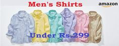 Buy Mens Shirts Under Rs 299 at Amazon Online Coupons, Amazon, Shirts, Stuff To Buy, Men, Style, Fashion, Moda, Amazons