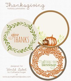 Thanksgiving printable labels Preview