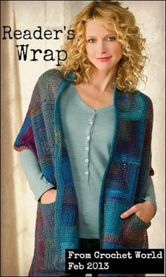 Reader's Wrap from Crochet World February 2013. Order here: http://www.anniescatalog.com/detail.html?prod_id=97701=pntrst
