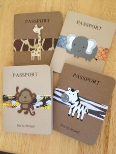 Passport invitation cards