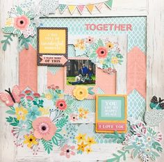 Today we are looking back on the Paisley Days collection. I fell in love with the gorgeous florals and colours inthis collection, as did… Scrapbook Layout Sketches, Scrapbooking Layouts, Scrapbook Journal, Scrapbook Cards, Smash Book Pages, Baby Girl Scrapbook, Scrapbook Storage, Layout Inspiration, Paisley