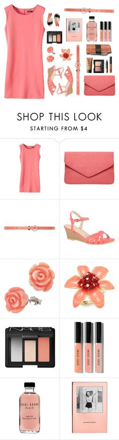 """""""organized coral"""" by tinkertot ❤ liked on Polyvore featuring Dorothy Perkins, New Look, Kiss & Tell, NARS Cosmetics, Jura, Kate Spade and Bobbi Brown Cosmetics"""