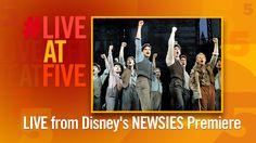 Broadway.com #LiveatFive at the NEWSIES Movie Premiere