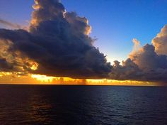 Freedom Of The Seas, Royal Caribbean Cruise, Clouds, Celestial, Sunset, Outdoor, Outdoors, Sunsets, Outdoor Games