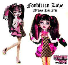 Quirky Artist Loft: Free Pattern - Monster High, Forbitten Love Dress