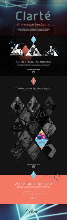 Unique Web Design, Clarté #WebDesign #Design (http://www.pinterest.com/aldenchong/)