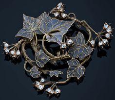 Ivy Brooch, Lalique, 1900.