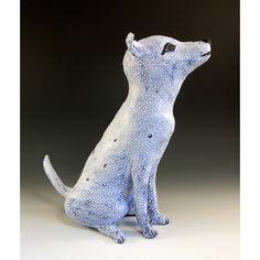 Jenny Mendes Ceramics | Ceramic Dog Sculpture - Jean Claude - Jenny Mendes Ceramic Sculpture