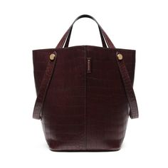 New Edition!2016 Mulberry Handbags Collection Outlet UK-Mulberry Kite Tote Oxblood Deep Embossed Croc Print