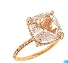 I want this ring so much...Vera Wang Pink Tourmaline & Diamond Pave Ring.