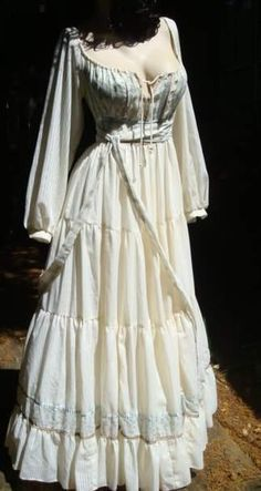 Vintage Gunne Sax Dress Hippie Corset Dress Fantasy Wedding Dress Gown