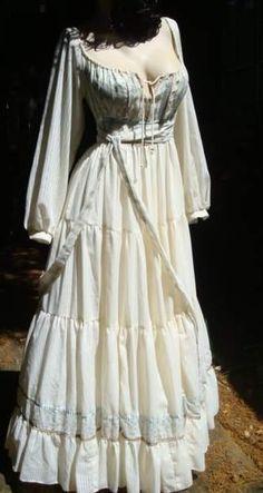 Vintage Gunne Sax Dress Hippie Corset Dress Fantasy Wedding Dress Gown