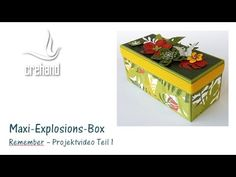 "Maxi-Explosions-Box ""Remember"" mit crehand und Stampin' Up!"