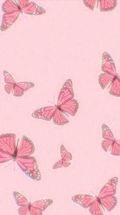 Butterfly Wallpaper Iphone, Iphone Background Wallpaper, Iphone Wallpaper Tumblr Aesthetic, Aesthetic Pastel Wallpaper, Vasco Wallpaper, Apple Watch Wallpaper, Homescreen Wallpaper, Cute Patterns Wallpaper, Pink Butterfly