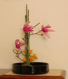 Ikebana di Lucio Farinelli by desiree Ikebana Flower Arrangement, Ikebana Arrangements, Flower Arrangements Simple, Flower Vases, Art Floral, Floral Design, Bonsai, Contemporary Flower Arrangements, Ikebana Sogetsu