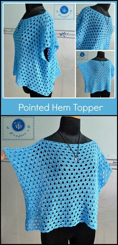 quick & easy crochet summer tops - free patterns - page 9 of 9 - . - quick & easy crochet summer tops – free patterns – page 9 of 9 – diy & crafts … - Blouse Au Crochet, Poncho Crochet, Pull Crochet, Mode Crochet, Black Crochet Dress, Crochet Gratis, Crochet Shirt, Crochet Yarn, Easy Crochet