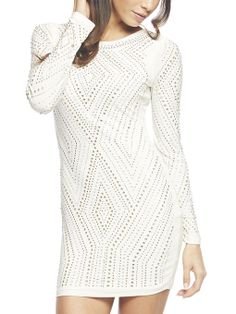 Studded Bodycon White Dress | Arden B.