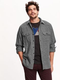 Regular-Fit Button-Front Shirt