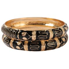 FOREVER 21 Tribal Style Bangle Set ($9.80) ❤ liked on Polyvore