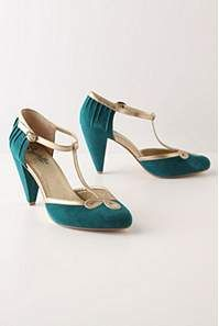 I love t-straps! And who wouldn't love a shoe in this color?