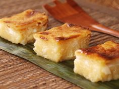 Cassava Cake - Tapioca Cake cooked with Coconut Milk and Young Coconut Sport
