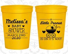 a99e2b6c056 Little Peanut Baby Shower Cups, Personalized Baby Shower Stadium Cups,  Elephant Baby Shower Cups,Baby Boy Shower,Baby Shower Favor (90028)