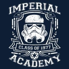 Star Wars: Imperial Academy - Class of 1977 T-Shirt Tie Fighter, Fighter Pilot, Logos Online, Nave Star Wars, Imperial Stormtrooper, Star Wars Design, Star Wars Pictures, Star Wars Tattoo, Star Wars Fan Art