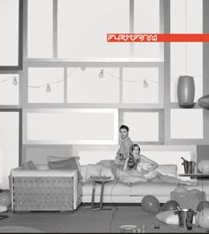 Adv campaign 2010. Photo by Maria Vittoria Backhaus. FLEXFORM Cestone sofa.