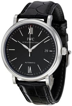 IWC Men's IW356502 Portofino Automatic Black Dial Watch luxury