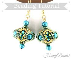 PDF-file Beading Pattern Beaded Bead 'AVA by HoneyBeads1Official