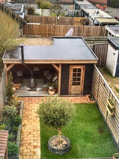 Backyard Pavilion, Backyard House, Backyard Sheds, Backyard Patio Designs, Backyard Landscaping, Garden Bar Shed, Summer House Garden, Outdoor Garden Rooms, Outdoor Pergola