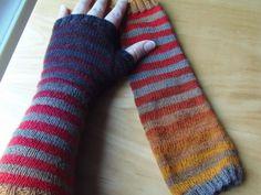 Lankaterapiaa: Kädet lämpimiksi - Zauberball stripes for my hands
