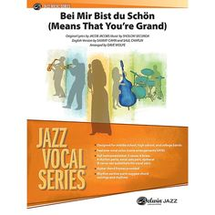 Alfred Bei Mir Bist Du Schon (Means That You're Grand) Jazz Vocal Band Grade 3.5 Set