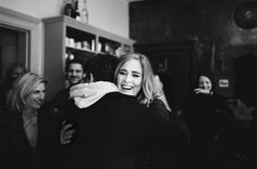 Adele and Xavier hug after watching a playback.