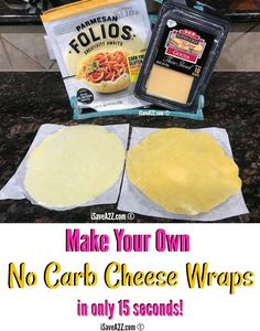 You can make NO CARB Cheese Wraps at home in only 15 seconds!!! Super easy recipe that is low carb and keto friendly!