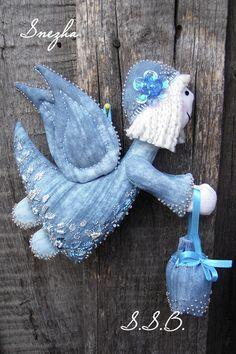 Звездный Ангел - голубой,ангел,ручная работа handmade,авторская игрушка
