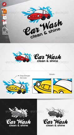 Car Wash Logo — Vector EPS #creative #digital • Available here → https://graphicriver.net/item/car-wash-logo/6134124?ref=pxcr