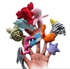 10pcs Funny Sea Marine Animals Hand Puppet Cute Starfish Octopus Shark Dolphin Sealion Whale Puppets for Kids Gift >>> You can find out more details at the link of the image.