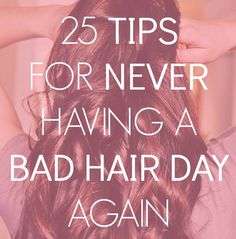 Have a good hair day every day with these tips! | via @v High