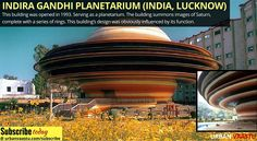 #Indira #Gandhi #Planetarium (Lucknow) This building's design was obviously influenced by its function.