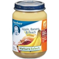 Gerber Nature Select 3rd Foods, Apple, Banana, Peach, 6-Ounce (Pack of 12)