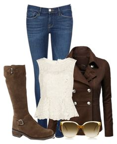 """Untitled #480"" by scarlet-fltcher ❤ liked on Polyvore featuring Frame Denim, La Canadienne and Gina Bacconi"